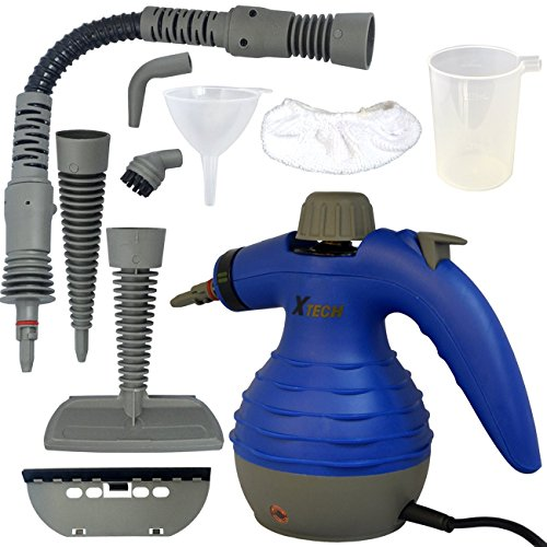 Steam Gun - Xtech Electric Easy Handheld Steam Cleaner with 6 Different Attachments and 3 Additional Accessories
