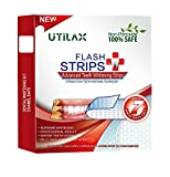 Advanced Teeth Whitening Strips Kit by Utilax: Professional Non-Peroxide Teeth Whitening Tool - 100% Safe, Lasts Over 6 Months (14 Treatments)