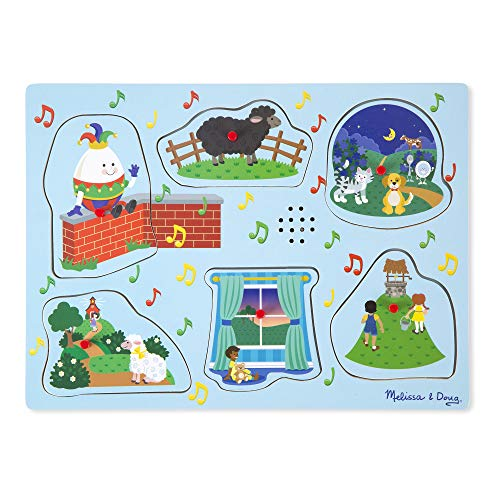 Game Rhymes Match - Melissa & Doug Nursery Rhymes 2 Sound Puzzle (6 Piece)