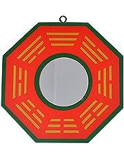 Feng Shui Peach Wood Bagua Concave Mirrors Pakua SKU:J2321