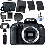 Canon EOS Rebel T7i DSLR Camera (Body Only) 1894C001 + LPE-17 Lithium Ion Battery + Universal Slave Flash unit + Lens Cleaning Kit + Canon 100ES EOS shoulder bag Bundle