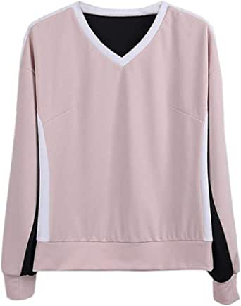 Women Fashion V-Neck Sweatshirt Sweatpants 2 Piece Set Tracksuits 1 US X-Small