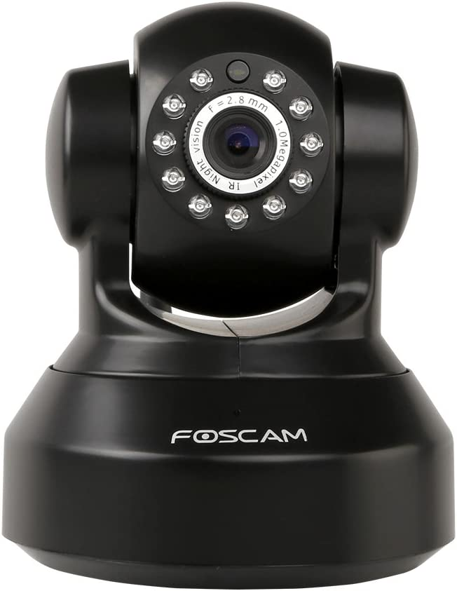 Foscam FI9816P Plug and Play 720P HD Wireless IP Camera, with Pan and Tilt, Motion Detection, Night Vision, a 70 Degree Viewing Angle, and Smart Phone Connectivity (Black)