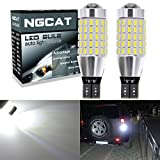 NGCAT 2PCS 900 Lumens 3014SMD 87-EX Chipsets T15 T10 W16W 921 915 LED Bulbs with Lens Projector Brake Turn Signal Tail Backup Reverse Lights,Xenon White 6500K,12-24V 4W