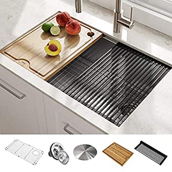 Kraus Khu100 30 Kitchen Sink 30 Inch Stainless Steel Amazon Com