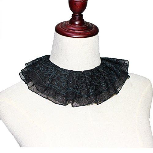 Costumes Dickens Era (MAYSONG Women Elizabethan Gothic Neck Ruff Collar Choker)