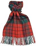 Lambswool Scottish Nicholson Modern Tartan Clan Scarf Gift