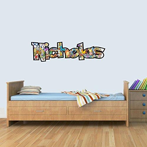 Customisable Pokemon Childrens Name Wall Art Decal Vinyl Stickers for Boys/Girls Bedroom M