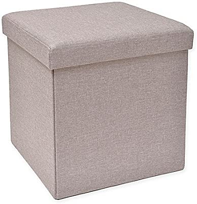 Amazon Com Sauder Soft Modern Upholstered Storage Ottoman