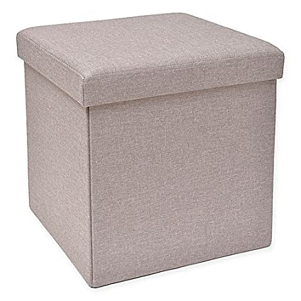 Brilliant Amazon Com Studio 3B Folding Storage Ottoman With Tray In Gmtry Best Dining Table And Chair Ideas Images Gmtryco