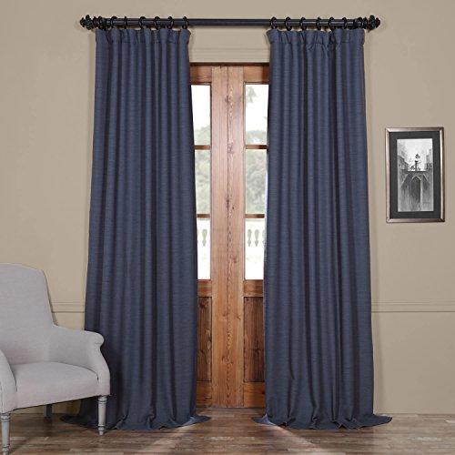 HPD HALF PRICE DRAPES BOCH-PL1704-96 Bellino Blackout Room Darkening Curtain, 50 X 96, Wild Blue