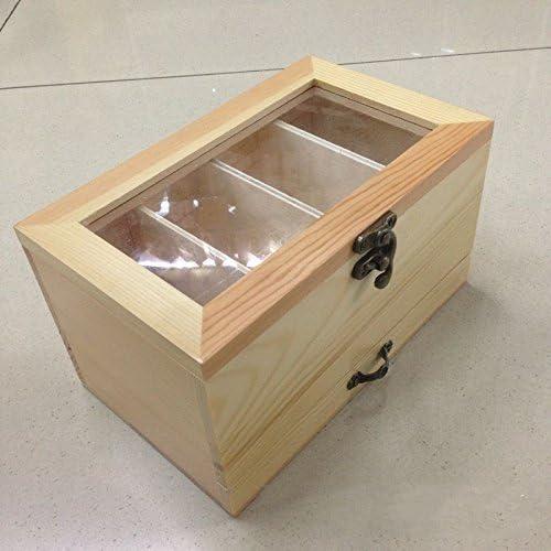 XBR Creative Costura Creativa costurero de Madera Caja de Caja de Almacenamiento Caja de Almacenamiento: Amazon.es: Hogar