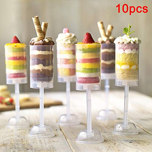 Belegend 10 Pcs Cake Pusher Tube Pushable Holder Push Clear Kitchen Durable Baking DIY ()