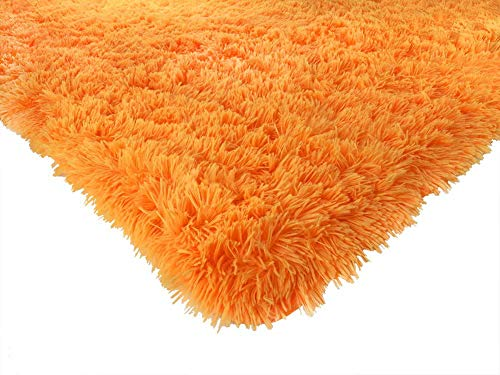 (ACTCUT Super Soft Indoor Modern Shag Area Silky Smooth Fur Rugs Fluffy Rugs Anti-Skid Shaggy Area Rug Dining Room Home Bedroom Carpet Floor Mat 4- Feet by 5- Feet ()