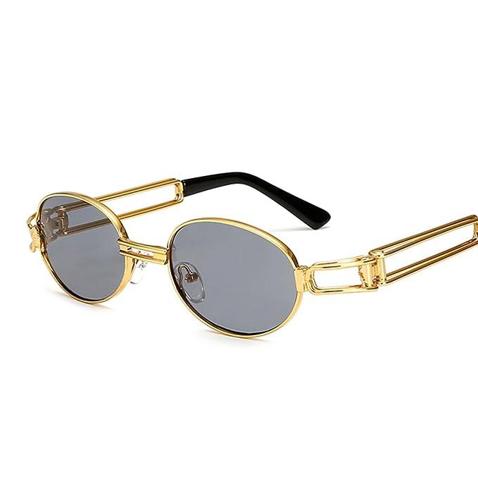 Amazon.com: Gafas de sol vintage ovaladas para hombre, marco ...