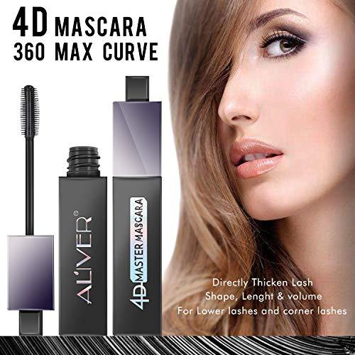 4D Silk Fiber Lash Mascara Waterproof, Luxuriously Longer, Thicker, Voluminous Eyelashes, Long-Lasting, Dramatic Extension, Smudge-proof, Hypoallergenic Formula