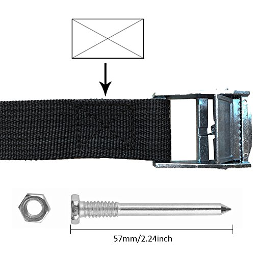 Spiked Shoes,SHZONS Lawn Aerator Soil Sandals with 6 Adjustable Straps and Zinc Alloy Buckles for Aerating Your Lawn or Yard,11.81×5.12'' by SHZONS (Image #4)