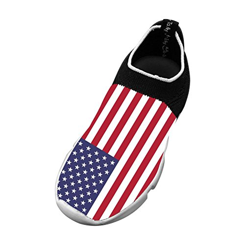 Flag of the United States 3D Printing Children's Slip-on Flyknit Outdoor Sport Shoes