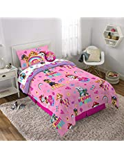 Paw Patrol Girls Be Kind 4-Piece Bed in a Bag Set with Bonus Bag, Includes Reversible Comforter, Fitted Sheet, Flat Sheet, Pillowcase, and Bag