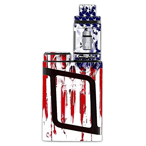 Skin Decal Vinyl Wrap for Smok AL85 Alien Baby Complete Kit includes tank wrap Vape Mod stickers skins cover/ U.S.A. Flag Skull Drip