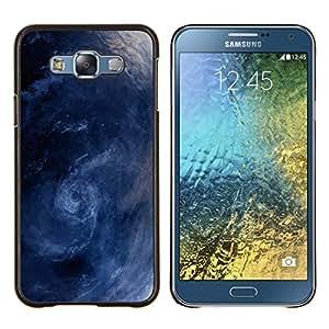 LECELL--Funda protectora / Cubierta / Piel For Samsung Galaxy E7 E700 -- Tormenta Surf Sea Waves Remolino azul --