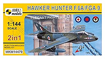Мark 1 1/144 Нawker Нunter ƒ.6A / ƒGA.9 sophisticated fighter two aircraft filled plastic model МKM14479