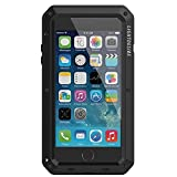 iPhone 7/8 Plus Case,LIGHTDESIRE [Newest] Aluminum Alloy Protective Metal Extreme Water Resistant Shockproof Military Bumper Heavy Duty Cover Shell Case [Black] (For iPhone 7/8 Plus)