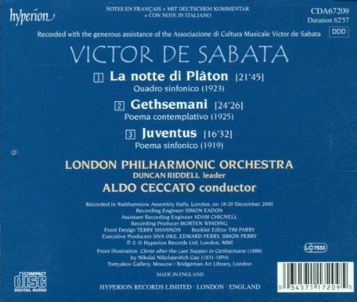 De Sabata: Orchestral Music- Notte Di Platon / Gethsemani / Juventus
