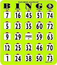 Mr. Chips Jumbo Slide Bingo Shutter Cards | Deluxe Jam Proof | Easy Read Numbers | Large Sliders with Big Tabs
