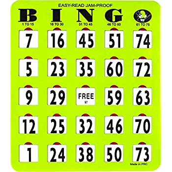 Image of Bingo Cards MR CHIPS Jam-Proof Easy-Read Large Bingo Cards with Sliding Windows