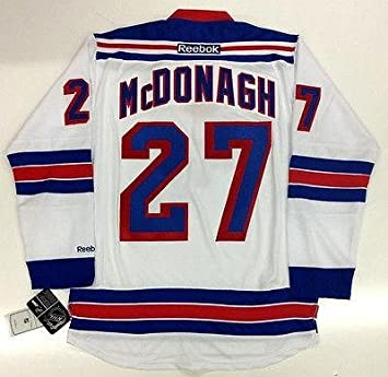 huge selection of 5c42a 3abf0 Autographed Ryan McDonagh Jersey - Reebok Premier White - 5 ...
