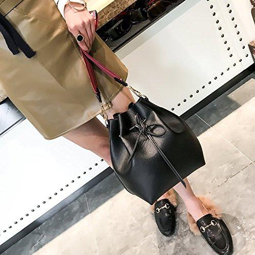Noir Bandouliere Sacs Pour Sac De Cuir Dames Femme Pu Designer Des Avec Marron A En Coloree Sodial Femmes Seau q8f5UIwI