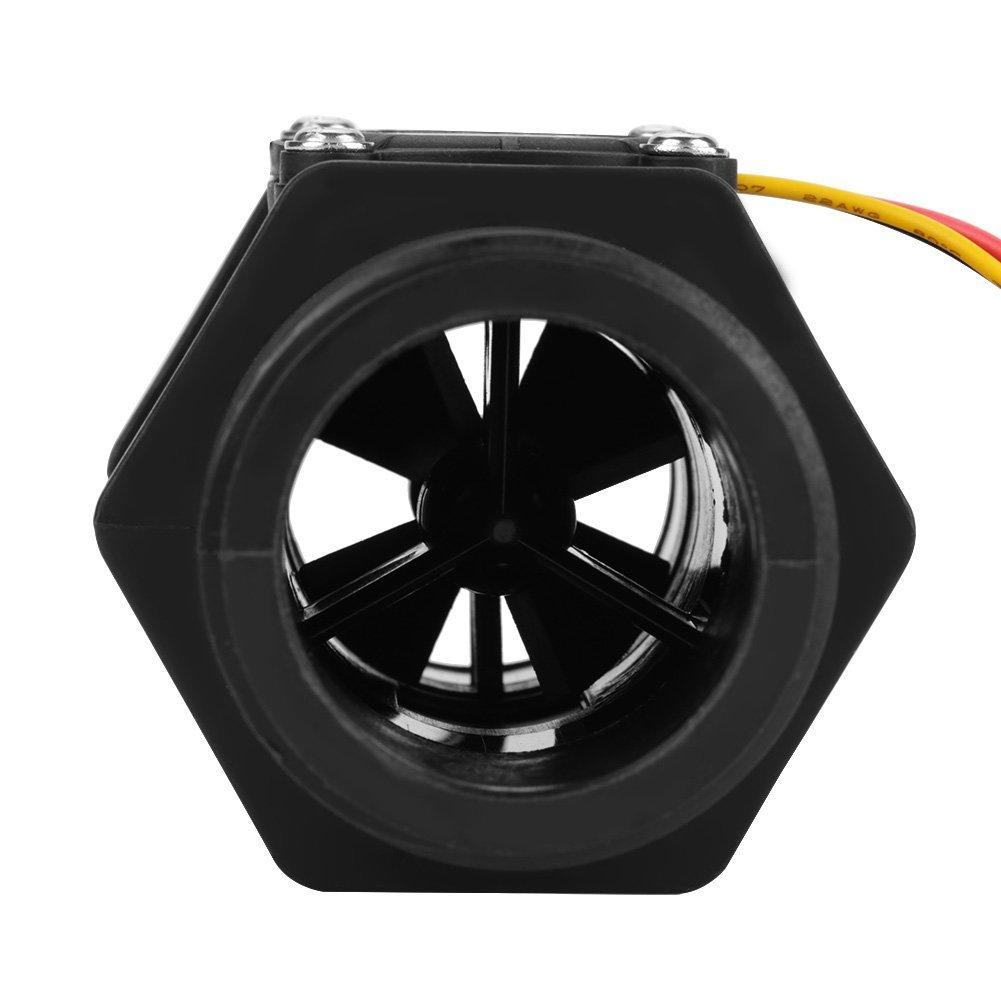 DN40 G1.5Turbine FlowMeter Wasserdurchfluss Hall Sensor Switch Meter f/ür Warmwasserbereiter