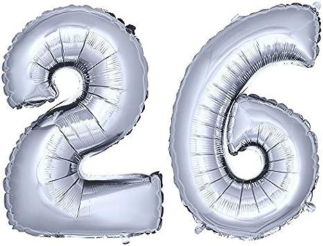 XXL 100cm número número globo folienballon cumpleaños aniversario decoración plata