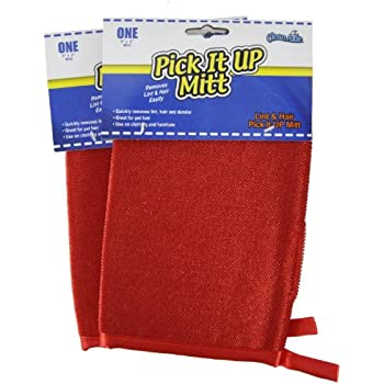 CleanAide Pet Hair Removal & Easy Cleanup Pick It Up Mitt (2-Pack)