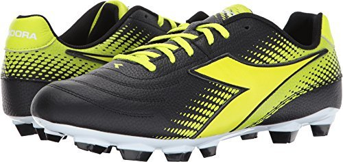 Diadora Unisex Mago L LPU Black/Yellow Flourescent Men's 10, Women's 11.5 Medium by Diadora