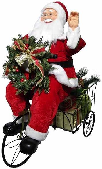 Mazzeo Giocattoli Pupazzo Babbo Natale con Triciclo 80cm