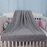 BlueSnail Toddler Knitted Blanket with Plush Shepra