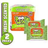 Boogie Wipes, Wet Wipes for Baby and Kids, Nose, Face, Hand and Body, Soft and Sensitive Tissue Made with Natural Saline, Aloe, Chamomile and Vitamin E, Fresh Scent, 45 Count (Pack of 2): more info