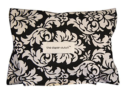 The Diaper Clutch, Black Damask