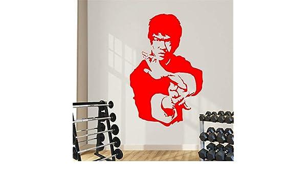 Ajcwhml Kung Fu Star Bruce Lee Etiqueta Adhesiva de Vinilo ...