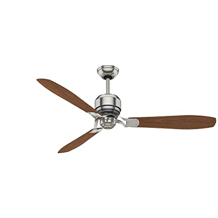 Casablanca Indoor Ceiling Fan, with wall control – Tribeca 60 inch, Brushed Nickel, 59504