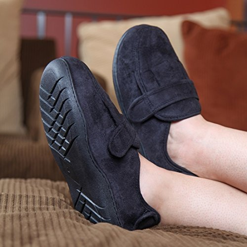 X Memory Black Slippers Home Adjustable Foam 8w6UnOq