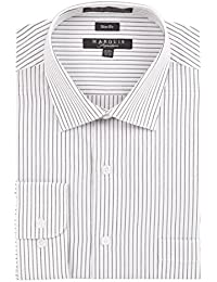 Men's Pin Striped Slim Fit Dress Shirt