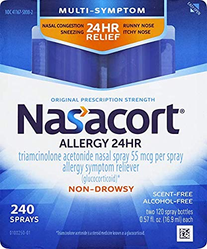 Nasacort Nasal Spray, 240 Total Spray Count