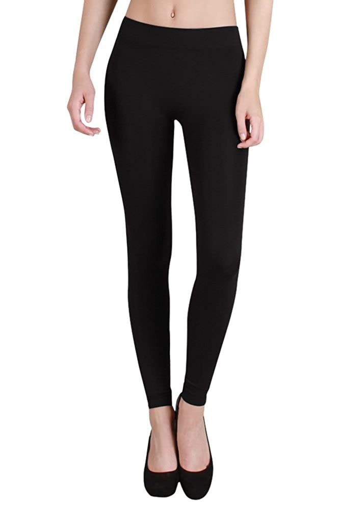 Nikibiki Womens Seamless Thick Leggings One Size Black NB5182_BLACK