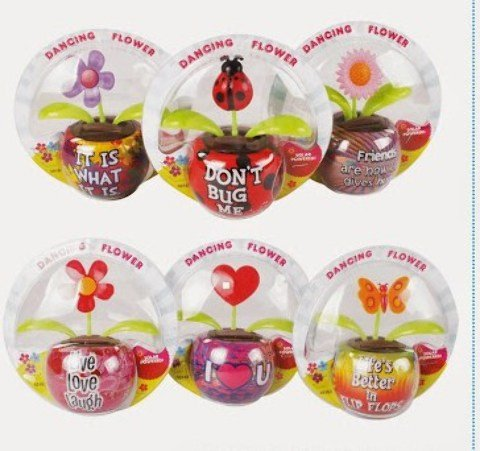 Solar Dancing Flowers With Sayings Case Pack 120 , Kid ,Toy , Hobbie , Nice Gift