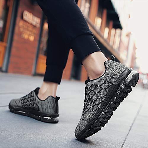 Gris Monrinda Athltique En Fonc Chaussures Course Jogging Femmes De Fitness Sport Air Plein Absorbant Respirant Hommes Baskets Les aaPOrcT