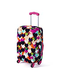Artone Colorful Loving Heart Washable Spandex Travel Luggage Protector Baggage Suitcase Cover Fit 24 Inch Luggage