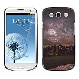 Paccase / SLIM PC / Aliminium Casa Carcasa Funda Case Cover - Milky Way Night Sky Mountains - Samsung Galaxy S3 I9300